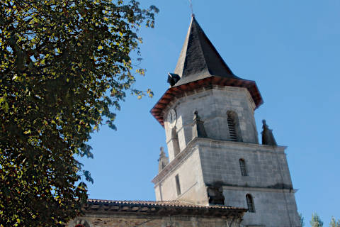 Tower of the church in Ainhoa