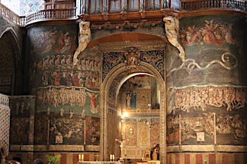 Fresques de la Renaissance dans la cathédrale d'Albi