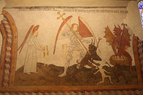 Fresques dans l'église de Saint-Eutrope