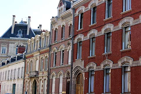 Red brick town houses in Amiens
