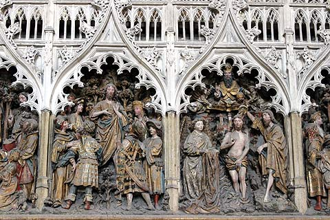 Detail of carving inside the Cathedral of Amiens