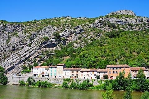 river front in Anduze