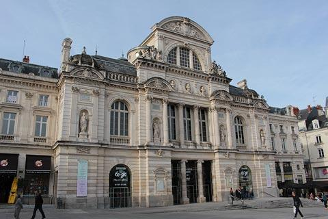 Classical style theatre in centre of Angers