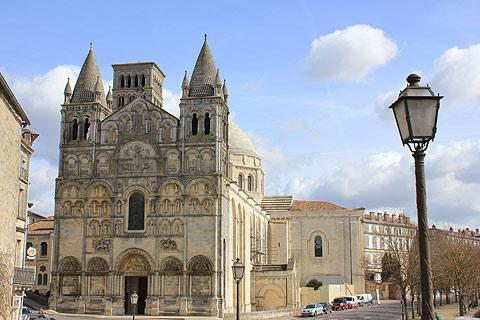 Cathedral and boulevards in Angouleme