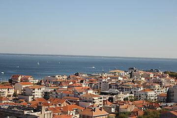 view from observatiore over Arcachon bay