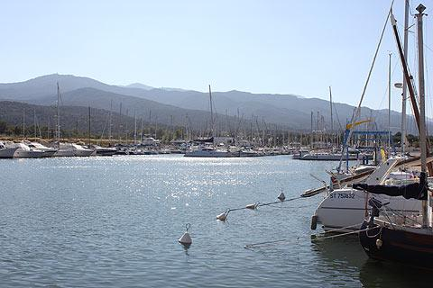 port and boats in Argeles-sur-Mer