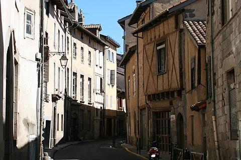Ancient houses in Aurillac town centre