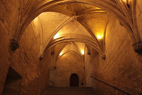 Staircase in the Palais des Papes in Avignon
