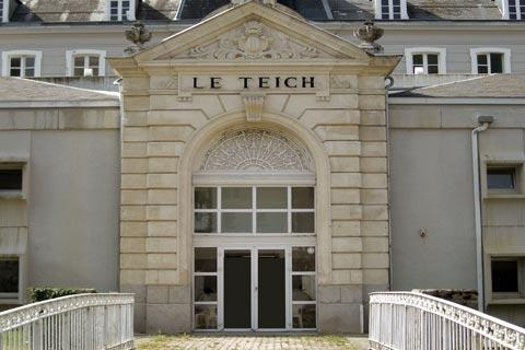Entrance to Le Teich spa in Ax-les-Thermes