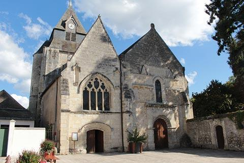 Facade of the church in Azay-le-Rideau