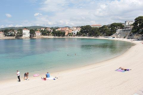 Beach in center of Bandol