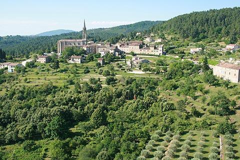 Banne village et église