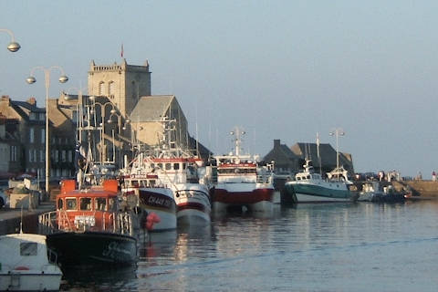 Boats in Barfleur harbour