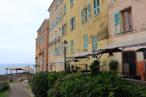 colourful houses overlooking Bastia harbour