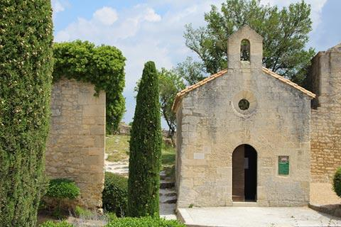 Small chapel in grounds of the castle in Les Baux-de-Provence
