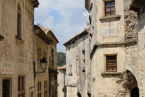 remarkable stone houses in Les Baux-de-Provence