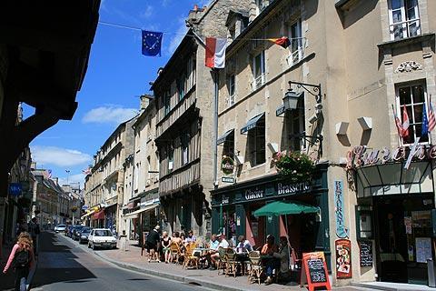 maisons médiévales dans le centre-ville de Bayeux