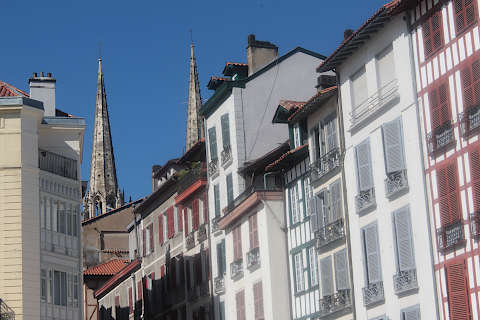 Cathedral seen from the old town in historic Bayonne