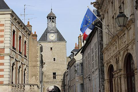 Town gateway and clocktower in Beaugency