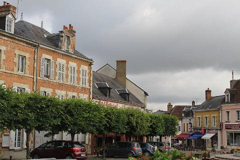 Shops and houses in centre of Bellegarde