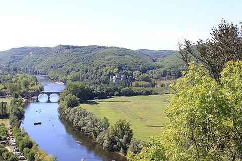 Vue de Beynac vers Castelnaud