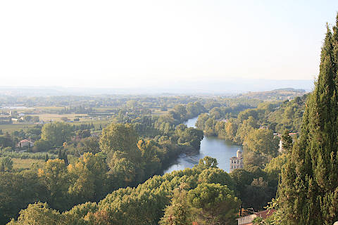 View across countryside from Beziers