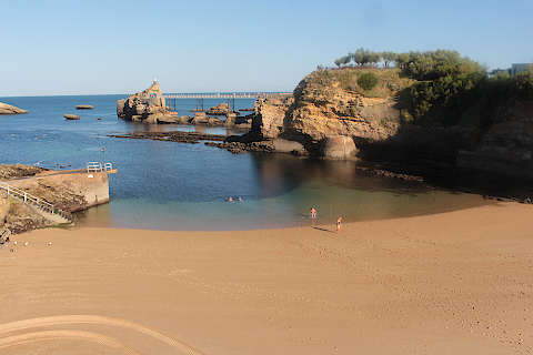 Beautiful sandy beach near Biarritz town centre