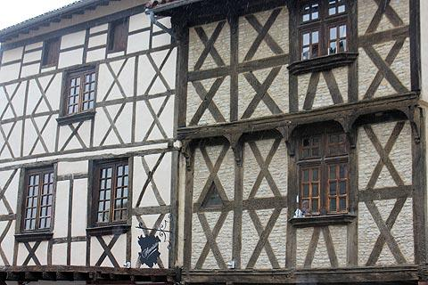 Colombage houses in Billom