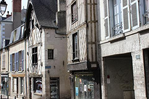 Medieval colombage houses in the historic centre of Blois