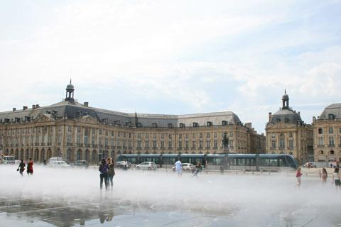Renovated waterfront area of Bordeaux