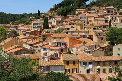 View across the rooftops of the village