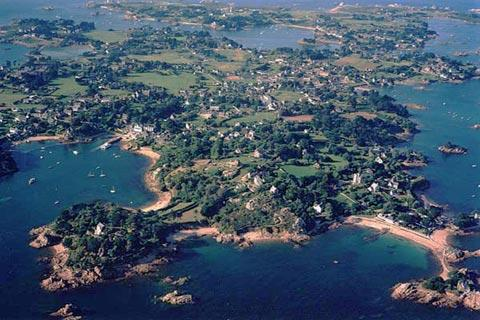 aerial view of Ile de Brehat