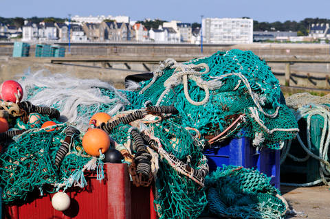 Fishing nets in Quiberon harbour
