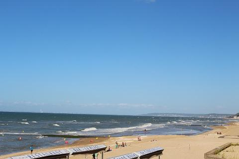 Long sandy beach at Cabourg