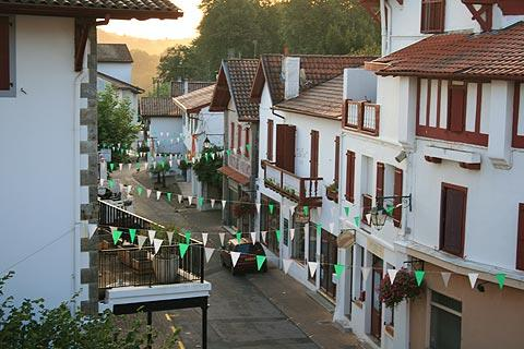 Basque street in old town of Cambo