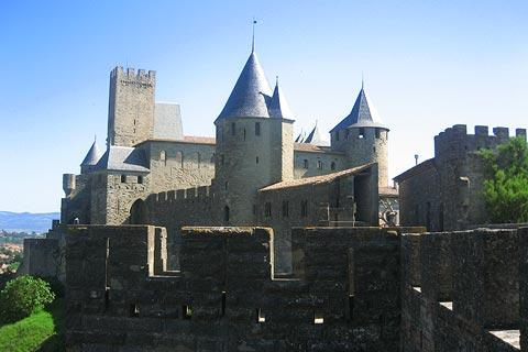 Vue à travers La Cité, Carcassonne