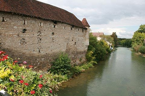 View along the river in Chablis