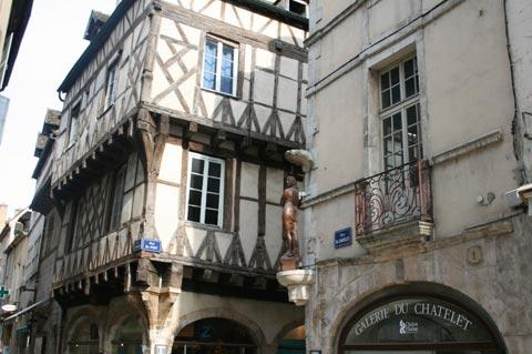 Colombage house in Chalon-sur-Saone town centre