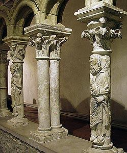 Cloisters in cathedral museum