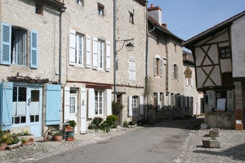 Street in the centre of Charroux village
