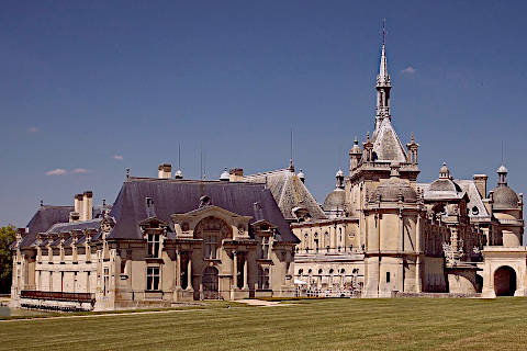 Outside view of the Chateau de Chantilly