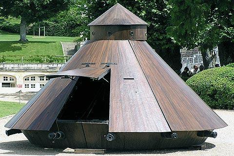 Plan pour un char au Château du Clos Lucé