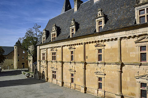 renaissance buildings at Chateau de Bournazel