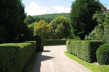 Path in gardens at Chateau de Cleron