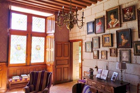 Le petit salon du Château Gaillard d'Amboise