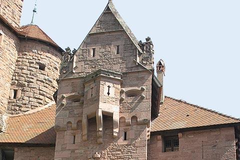 Entrance to Haut-Koenigsbourg castle