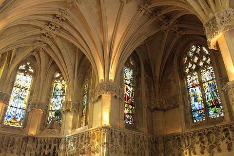 À l'intérieur de la chapelle du château d'Amboise