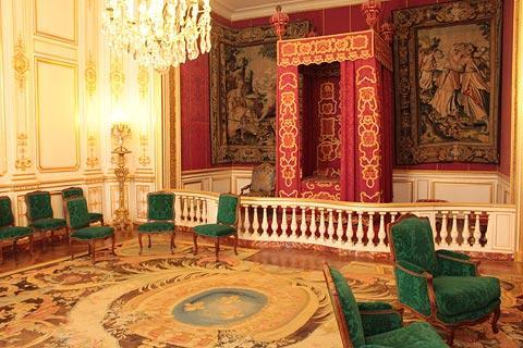 Salle meublée du Château de Chambord