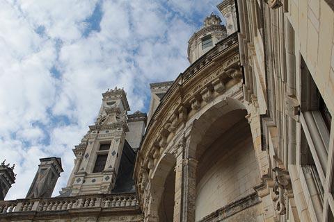 Détail du toit du château de Chambord