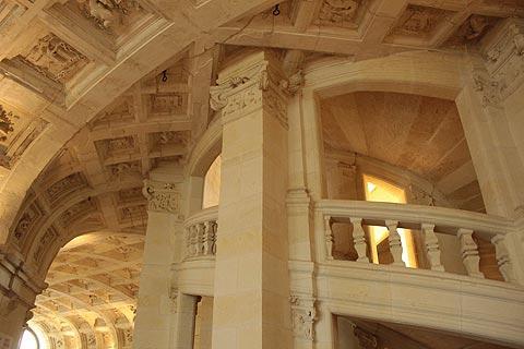 Détail du l'escalier en colimaçon du château de Chambord